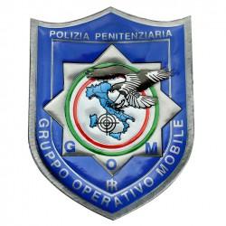 DISTINTIVO PLASTIFICATO POLIZIA PENITENZIARIA GOM